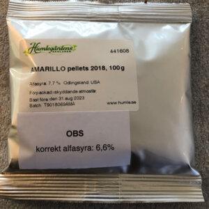 Amarillo Pellets 2018, 100gr BrewMaster Scandinavia